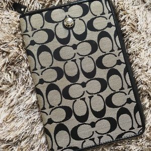 "Black/Grey 7"" Coach iPad/Tablet Case"